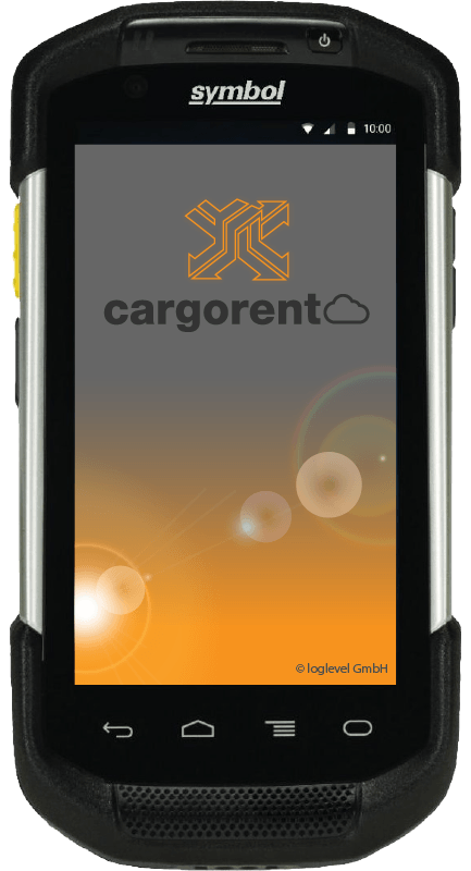 Symbol TC75 cargorent Screen