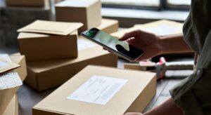 Fulfillment Label Versand Scan Handy